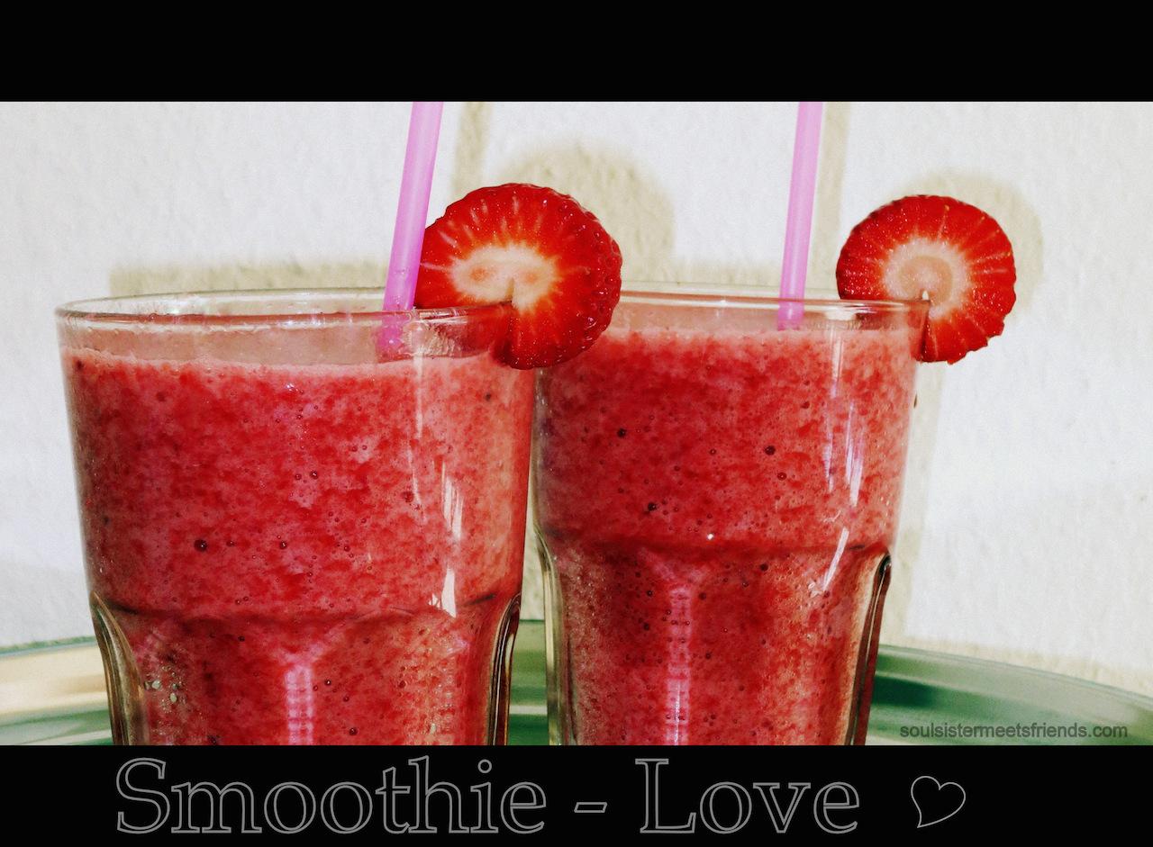 Frische Smoothies aus Erdbeeren und Bananen – einfach lecker!