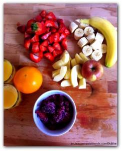 Obst auf Brett