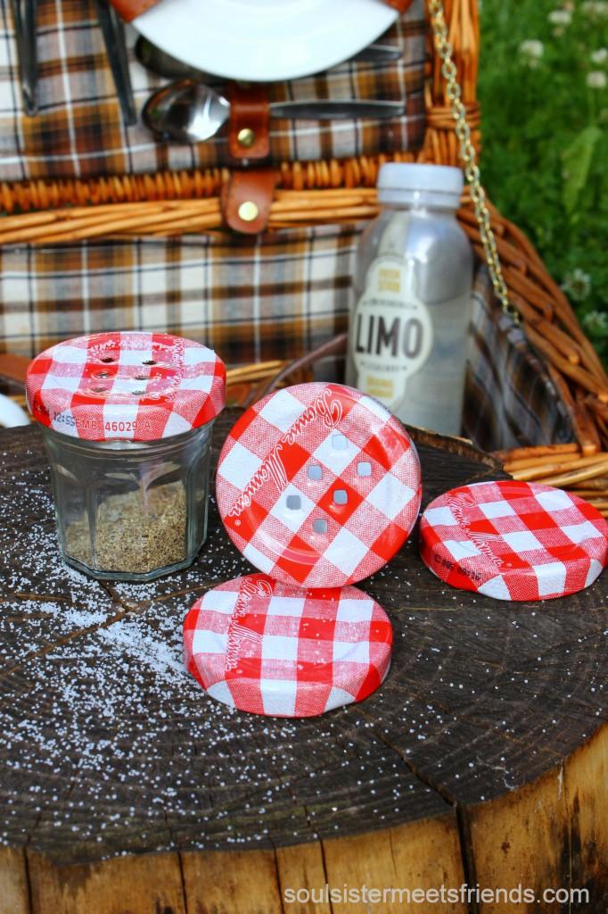 Upcycling Idee für's Picknick: Pfeffer & Salz to go!