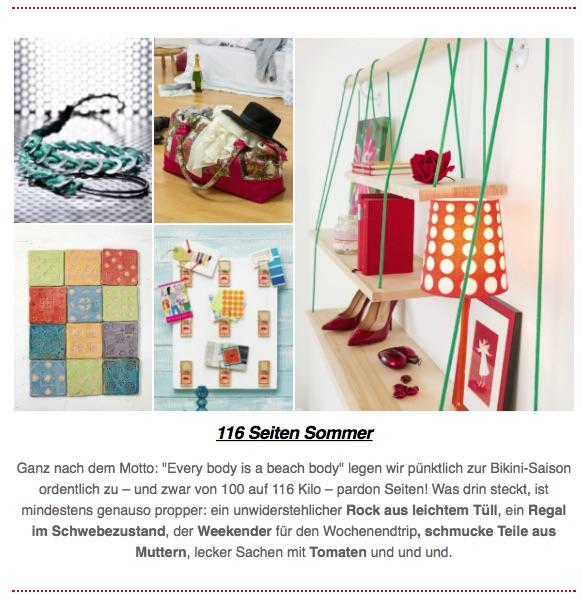 Die neue Handmade Kultur featured einen DIY-Beitrag von soulsister meets friends!