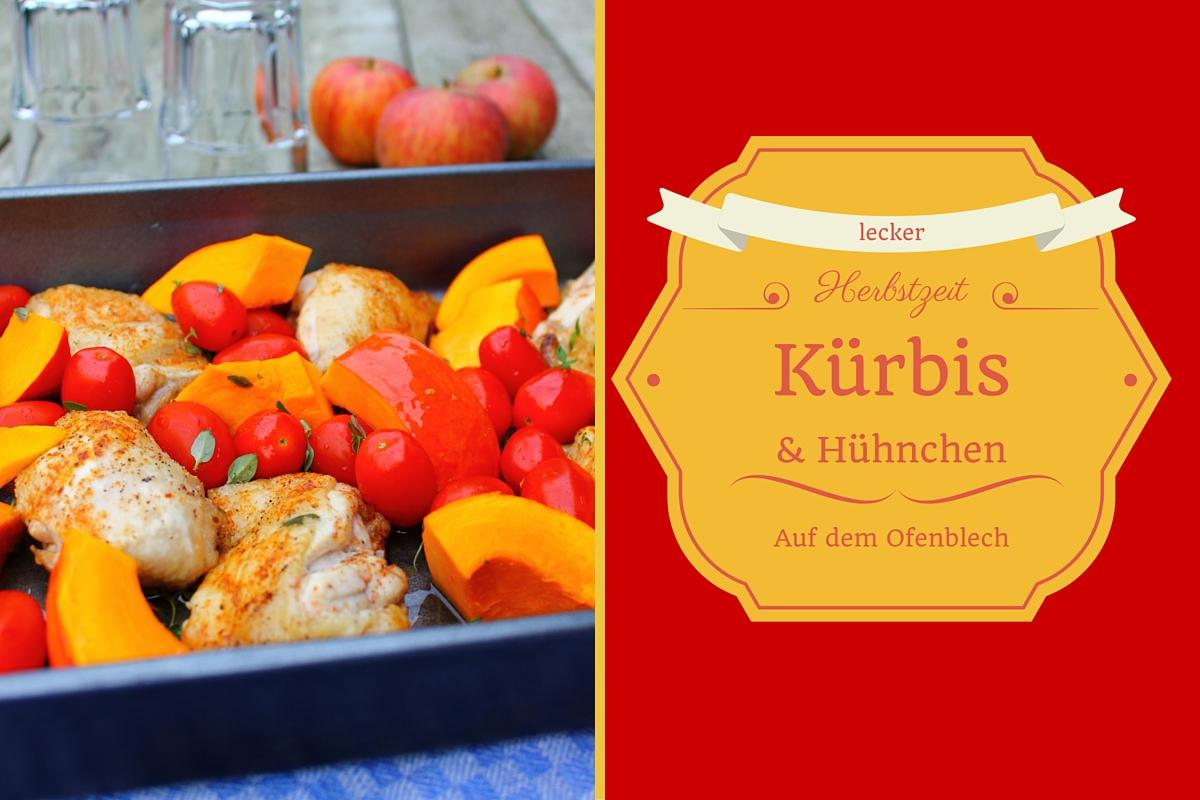 Aus dem Ofen: Hühnchen mit Kürbis