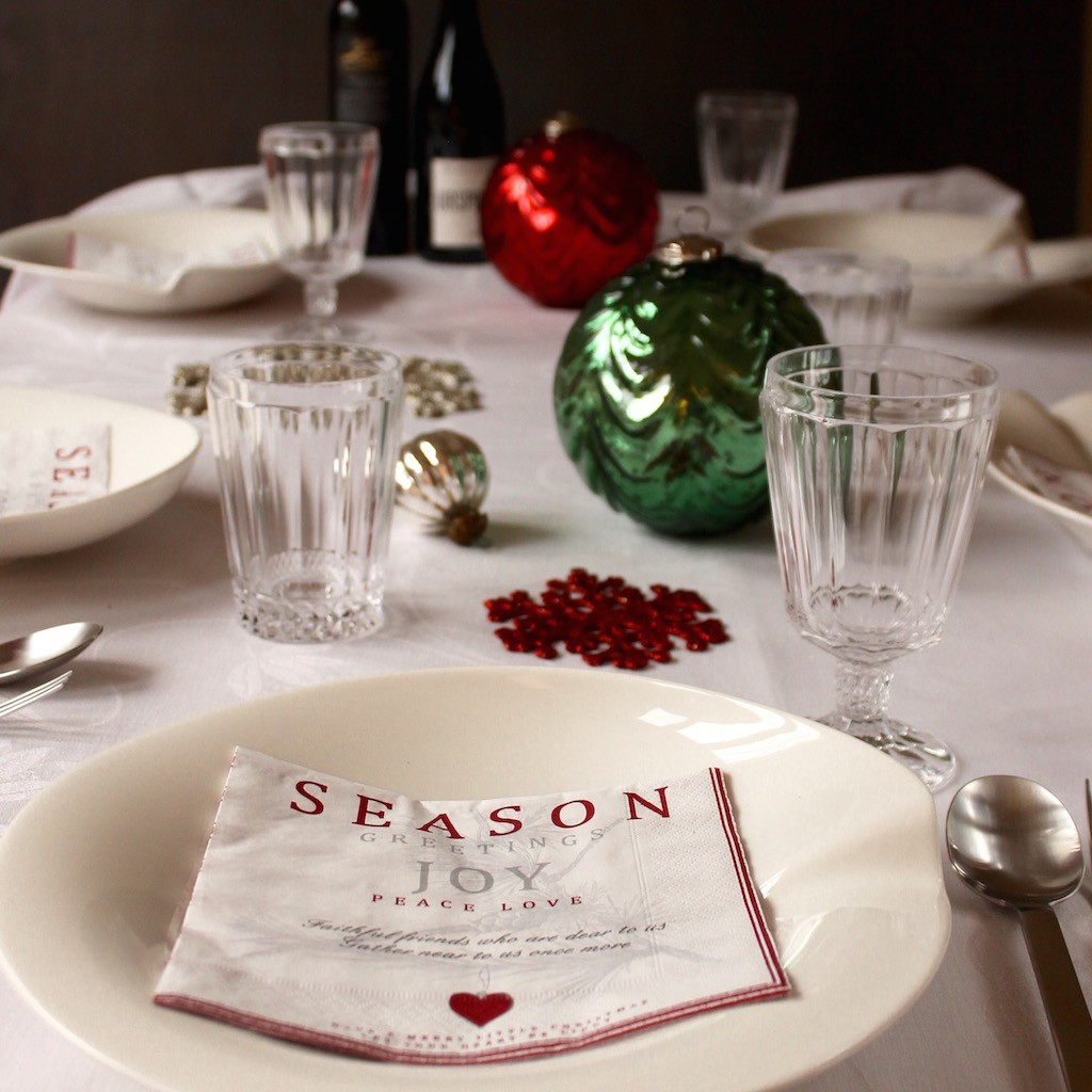 Seasons table decoration and XMAS Pasta, handmade