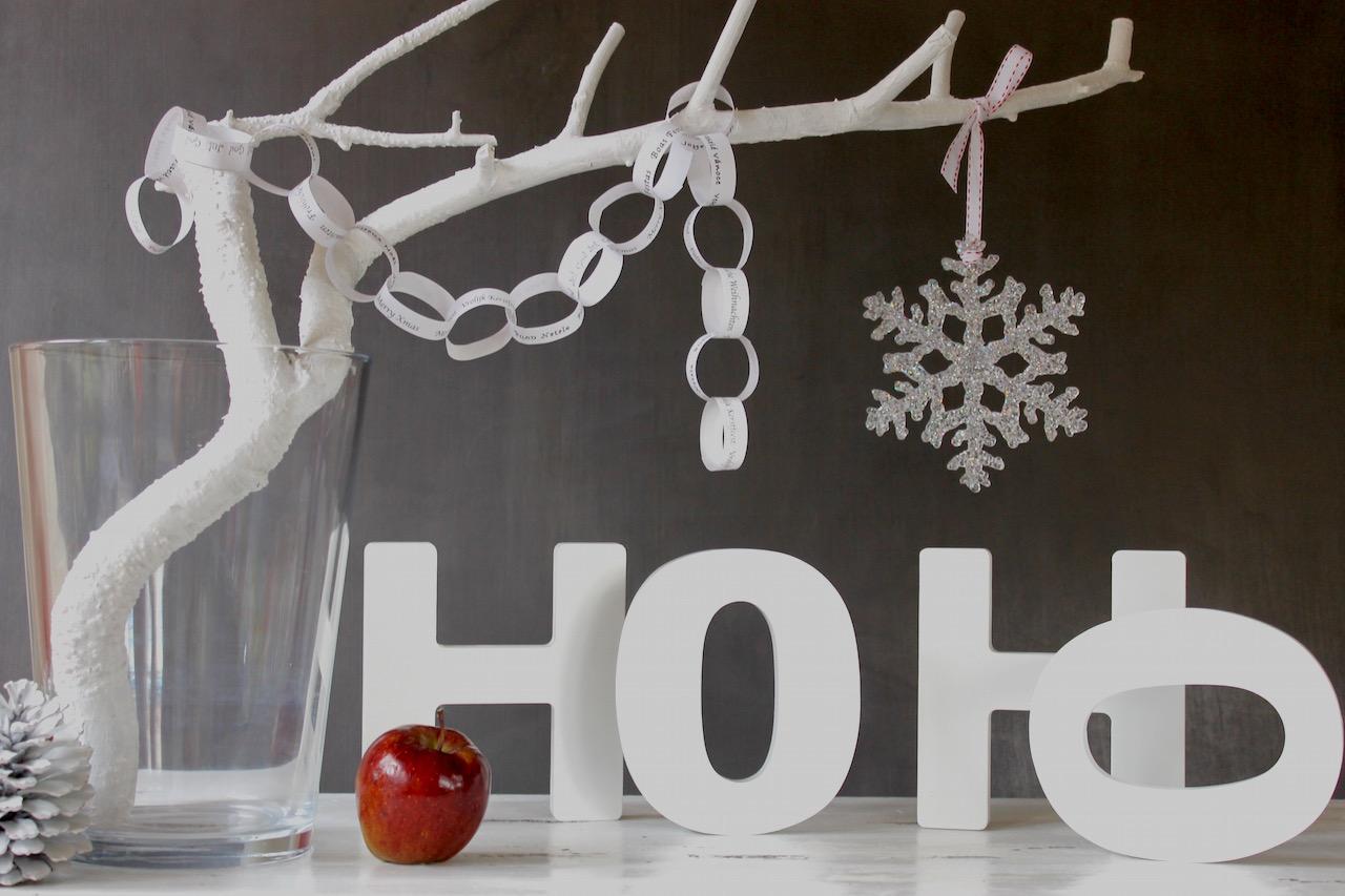 Xmas Deko Weihnachtsbaum.Advents Deko Freebie Zum Download Papierkette Für Den