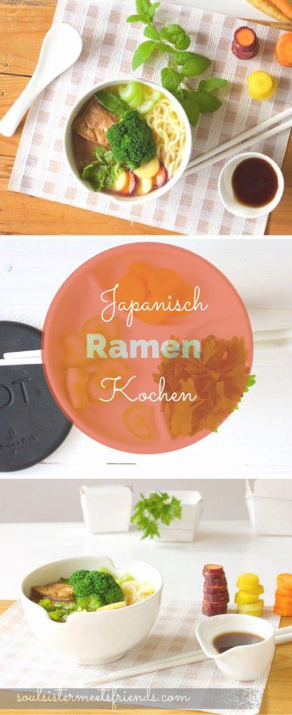 Japanisch kochen: herzhafte Suppe mit Gemüse