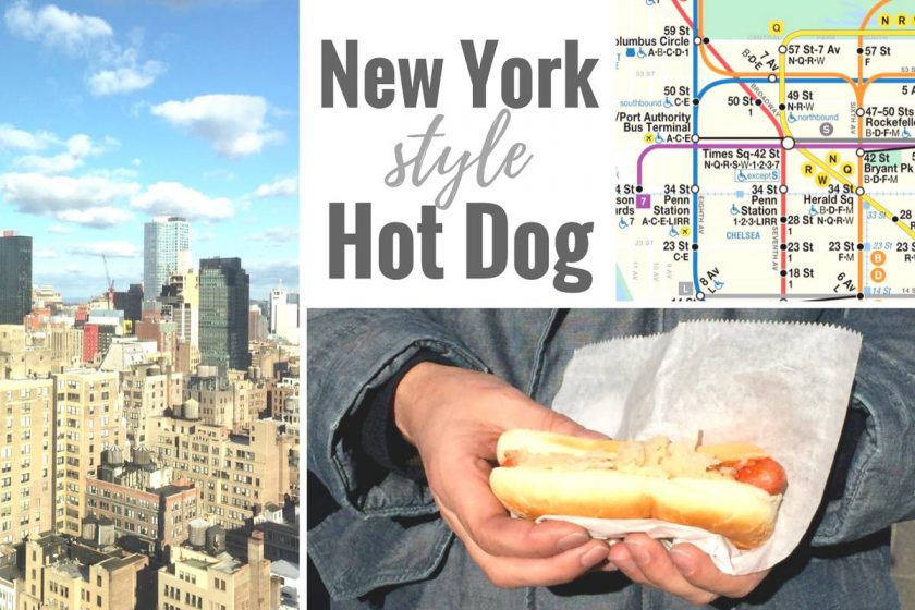 Ein Hot Dog im New York Style: mit Sauerkraut!