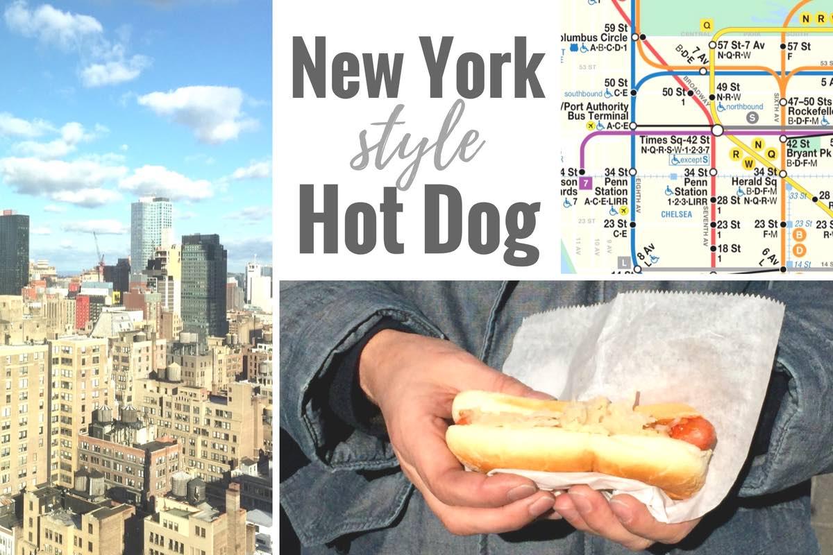Ein Hot Dog im New York Style: mit Sauerkraut!