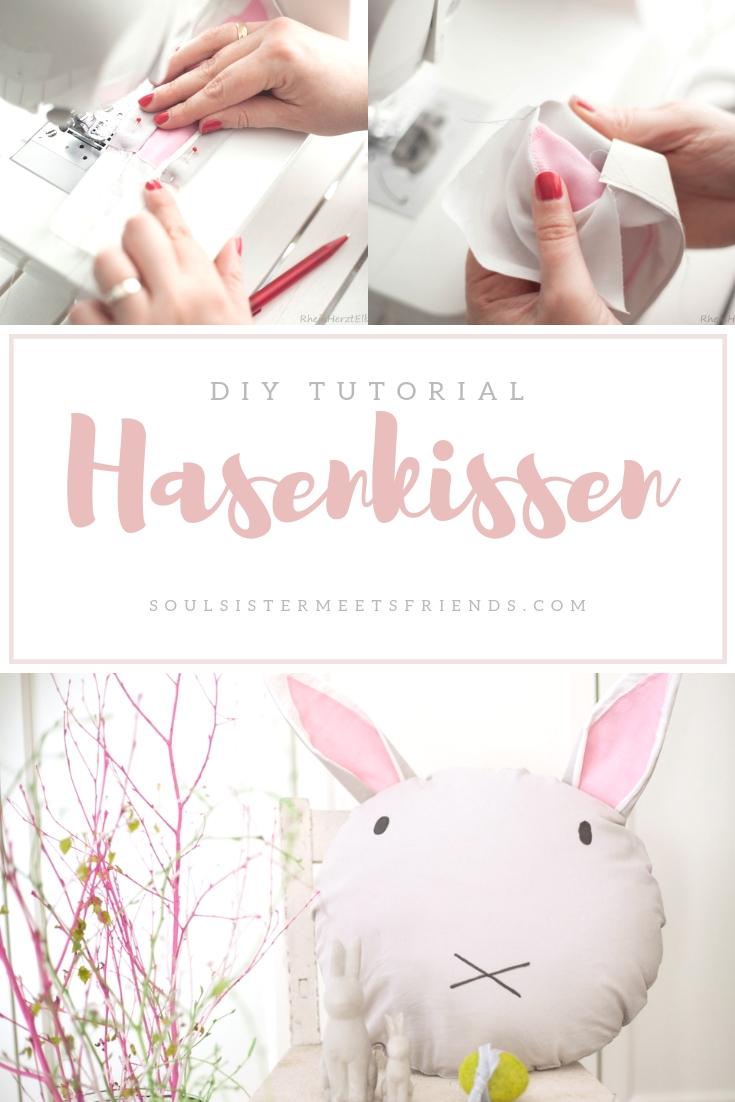DIY Tutorial: ein Hasenkissen zu Ostern