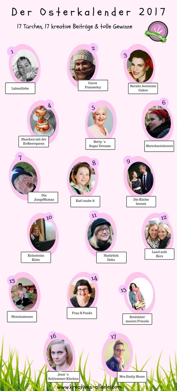 GroßerOster-Blogger-Kalender auf Kreatives Allerlei