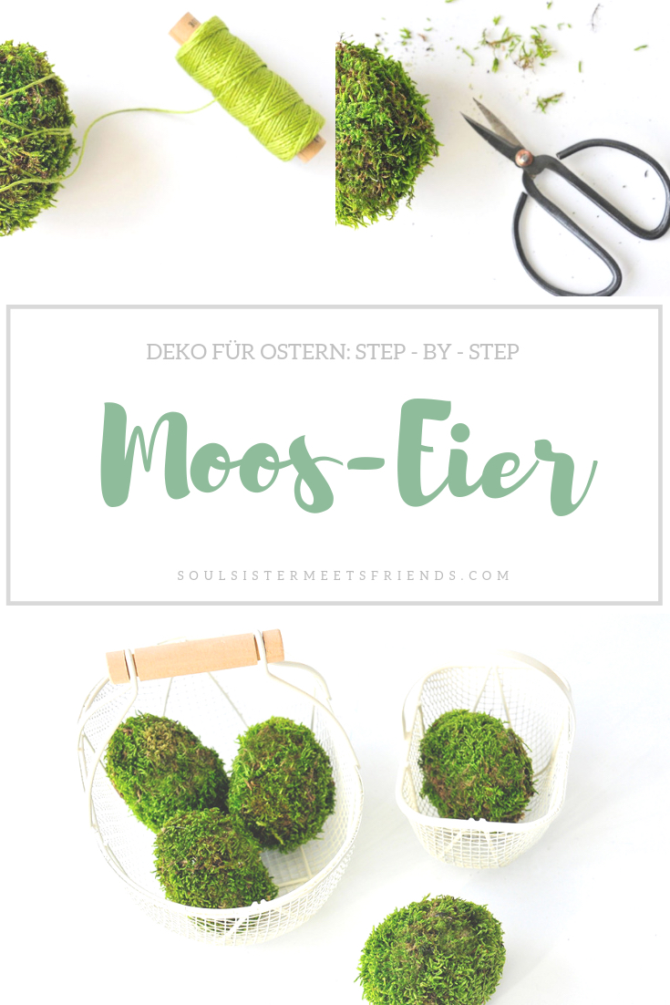 Osterdeko mit Moos: step by step Tutorial