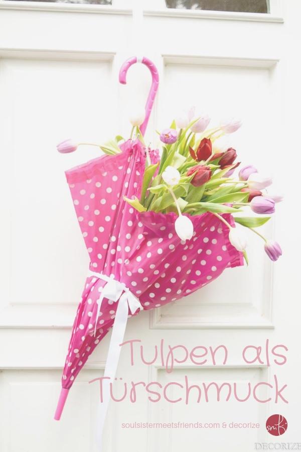 Diy Tutorial: Tulpen als Türschmuck!