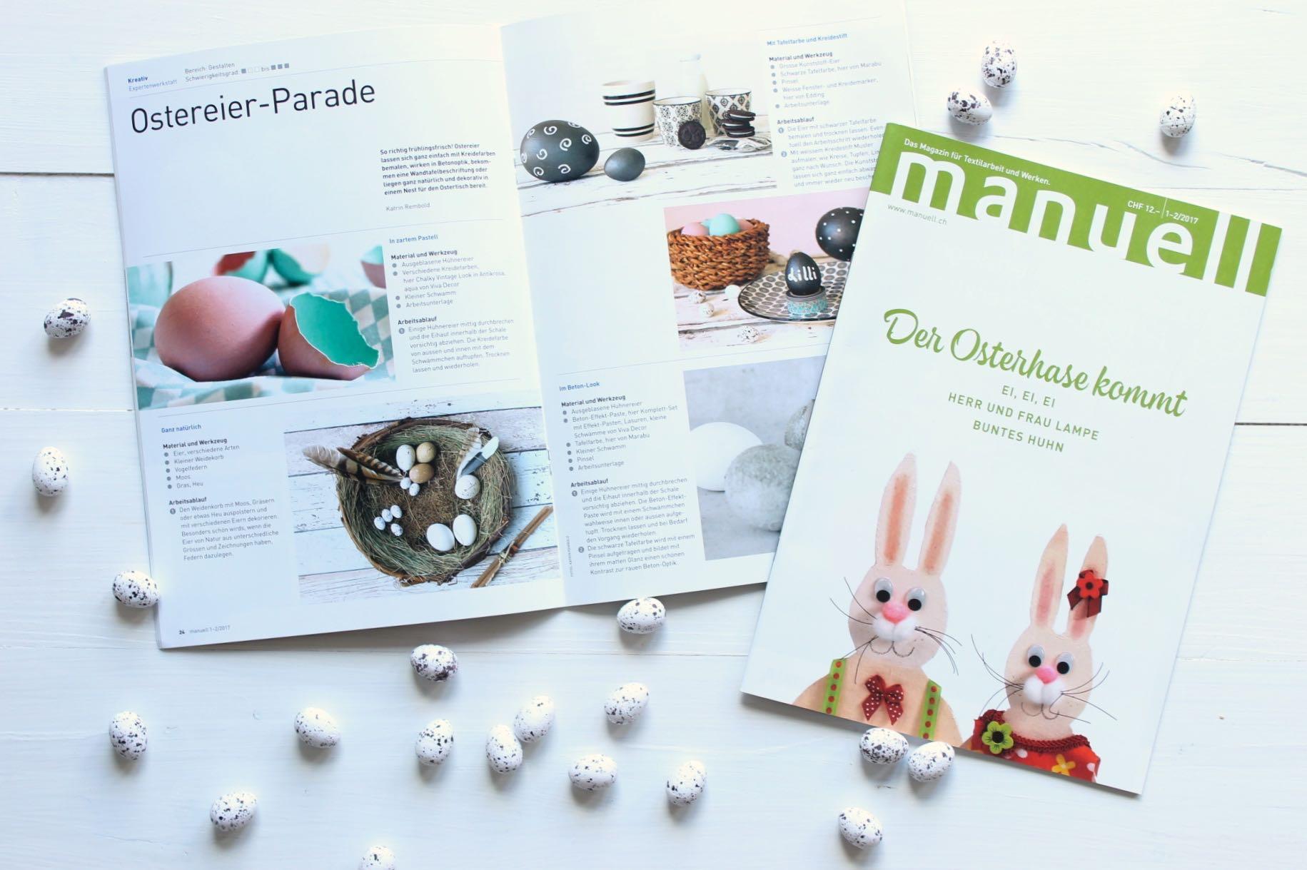 Print Feature: meine Oster-DIY's im manuell Magazin