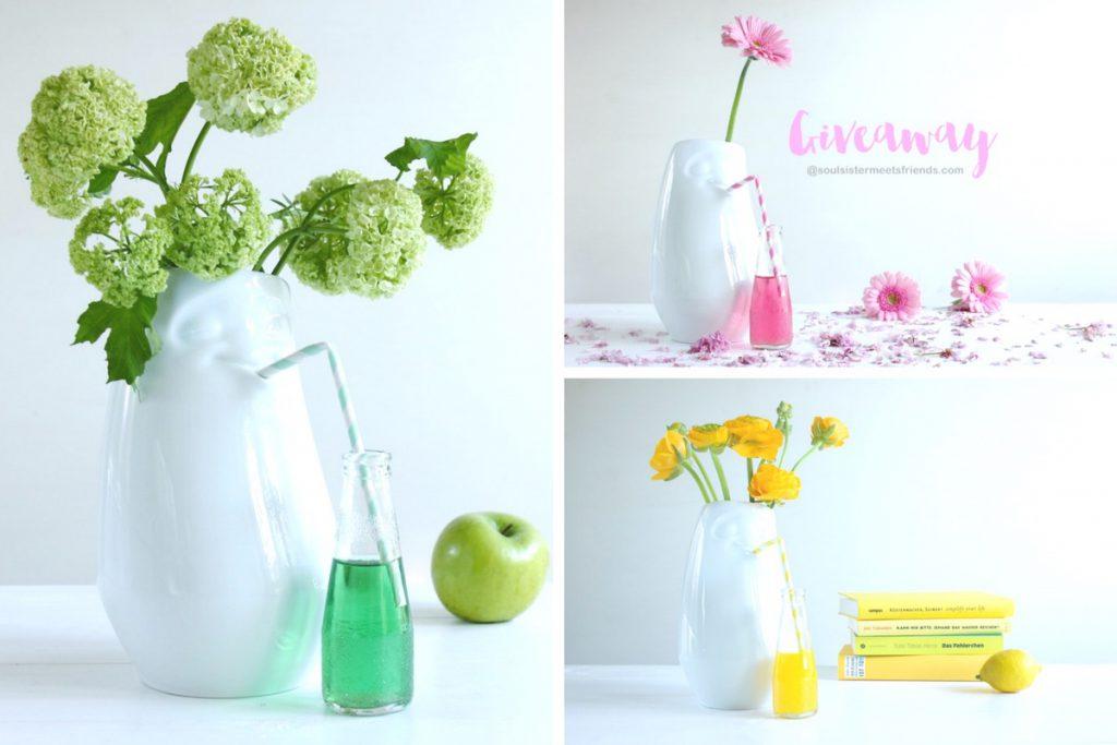 Mehr Spaß mit blumen: Vase mit Gesicht von 58products