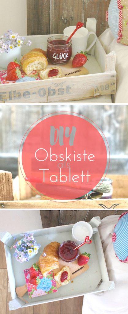 Upcycling DIY: So wird aus einer Obstkiste ganz schnell ein Tablett