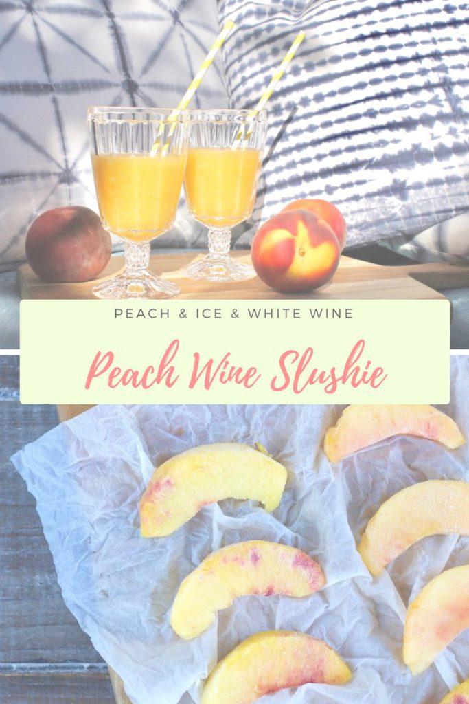 Peach Wine Slushie: Pfirsich & Wein – eiskalt genießen!