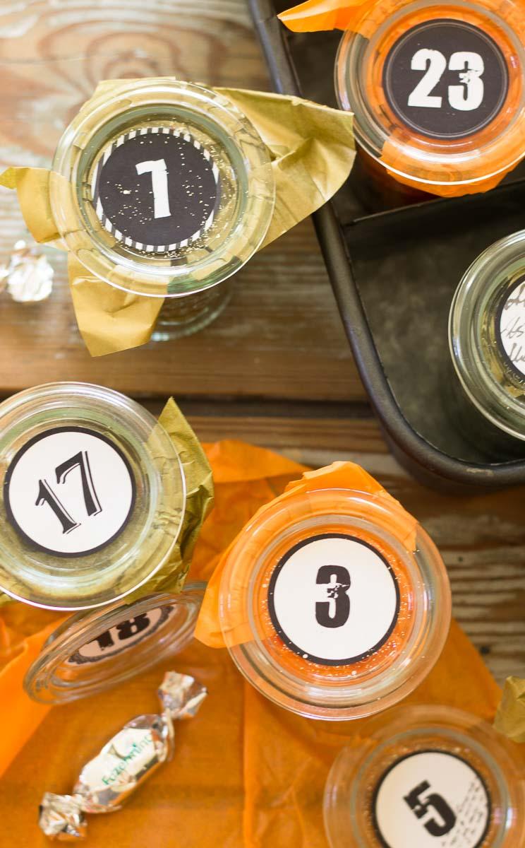 DIY Adventskalender im Weckglas