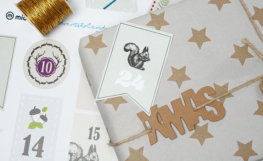 Die schönsten Freebies: Adventskalenderzahlen zum Ausdrucken ...
