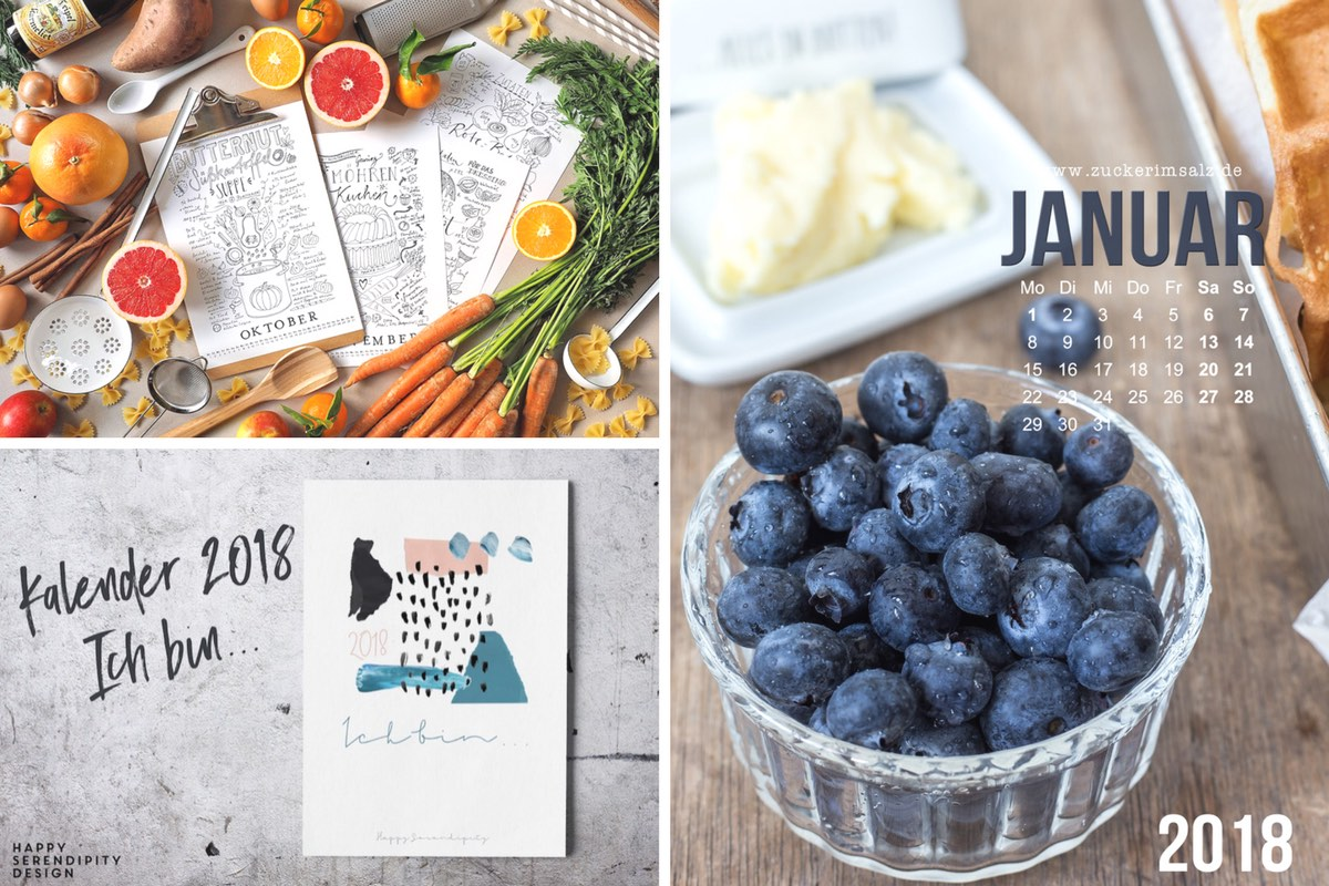 Kalender 2018: Freebies zum Download!