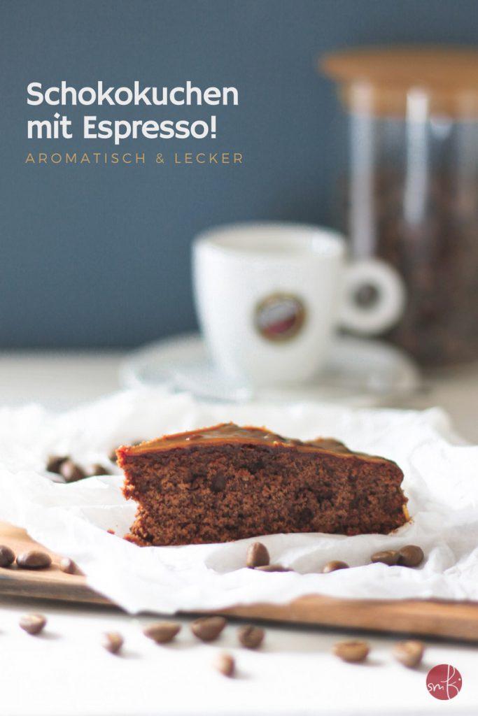 #Schokoladenkuchen mit Espresso inside und Kaffee-Karamell-Glasur