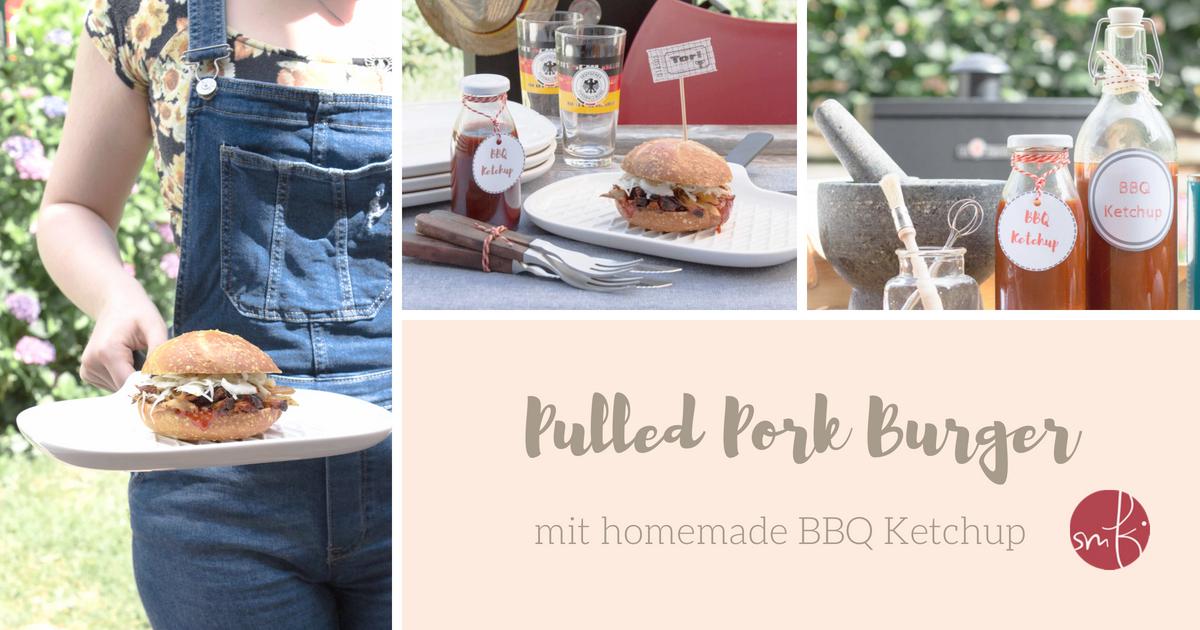Pulled Pork Burger und BBQ Ketchup