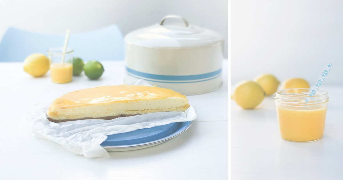 Key Lime #Cheesecake: Käsekuchen mit #Lemoncurd