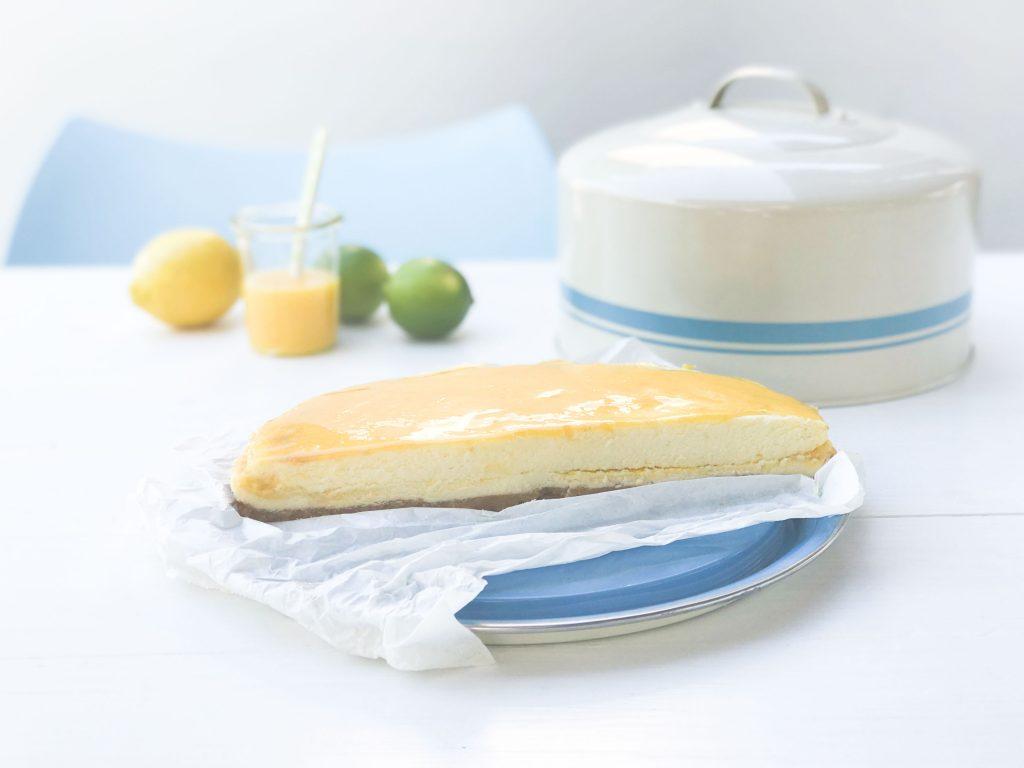 Key Lime #Cheesecake: Käsekuchen mit #Lemoncurd