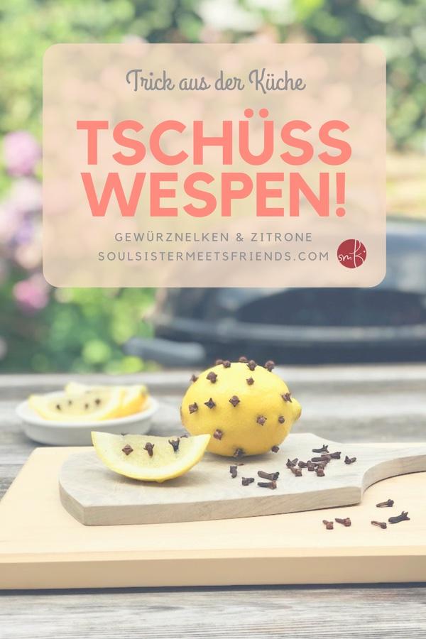 Was hilft gegen Wespen? Ein Trick aus der Küche: Gewürznelken und Zitrone!