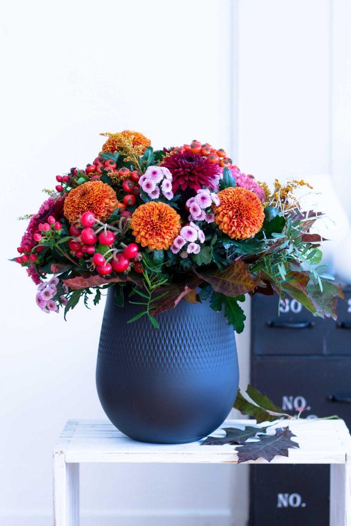 Blumendeko im #Herbst mit Chrysanthemen