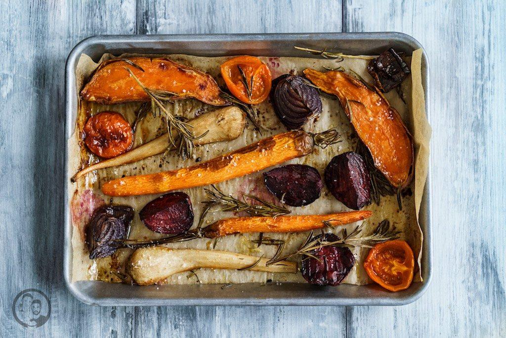 Rezept für den #Dampfgarer: Ofengemüse und flache Rippe