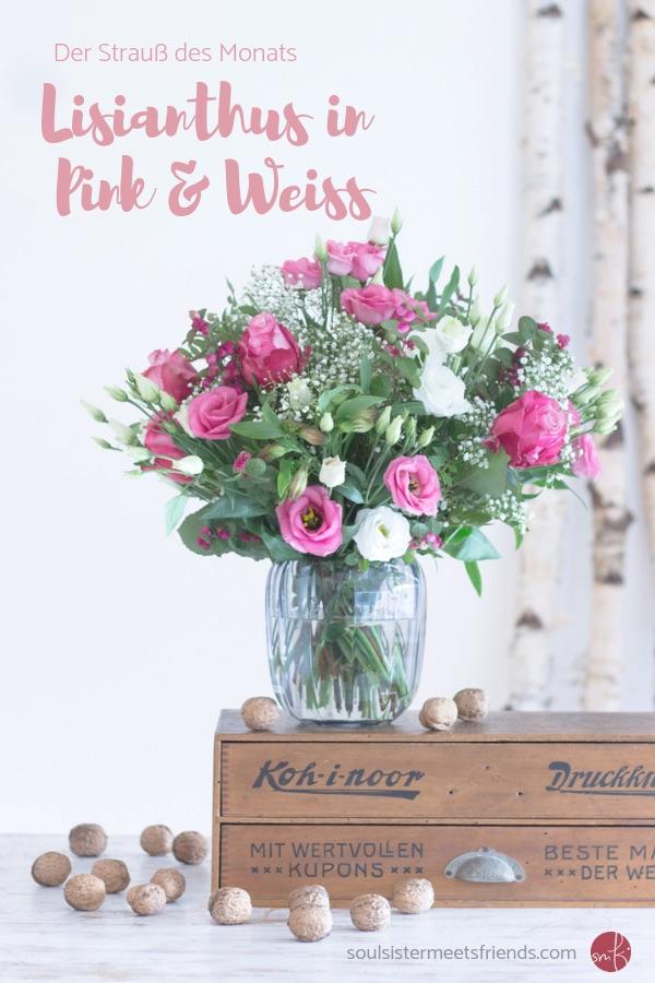 Blumendeko für den Winter: Lisianthus in Pink und Weiß