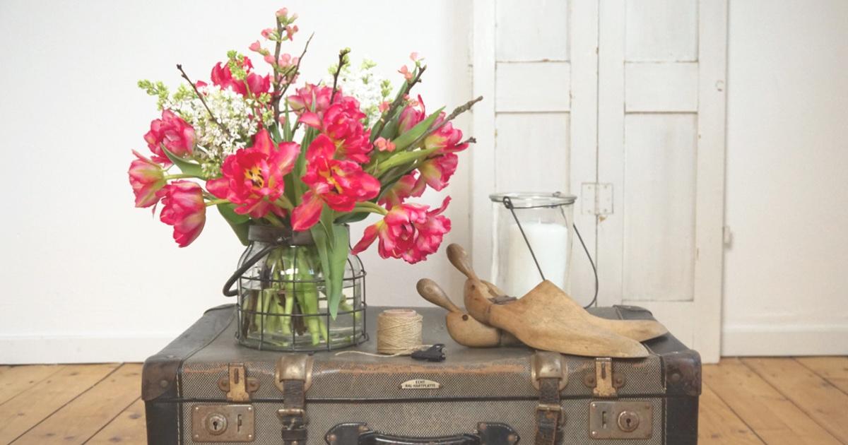 #Tulpen holen den Frühling ins Haus! #Blumendeko zum Nachmachen