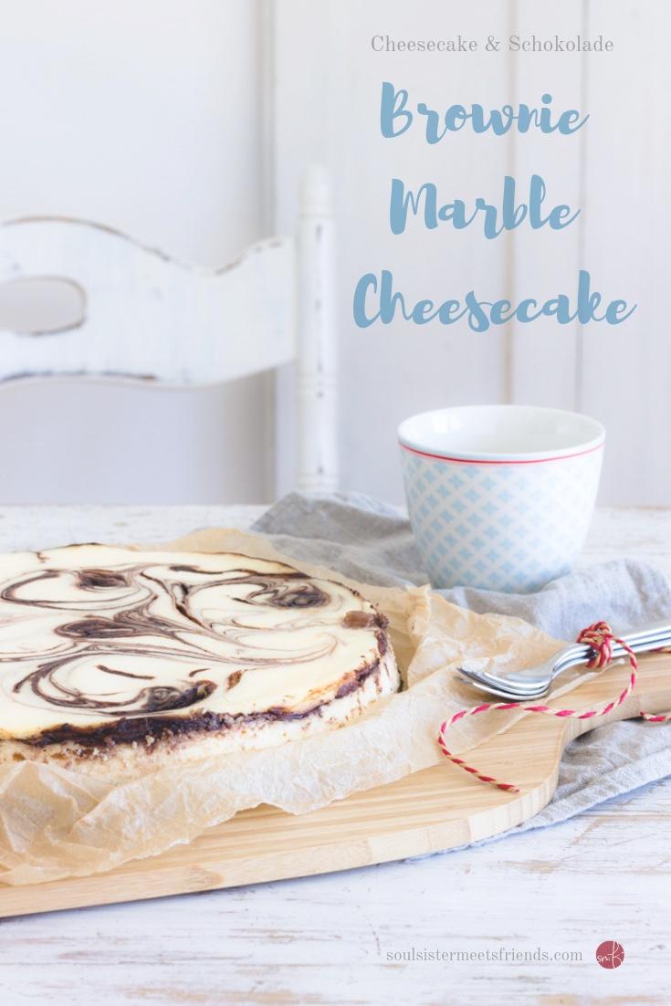 Brownie Cheesecake mit Schoko-Swirl: Käsekuchen mit Wow-Effekt!