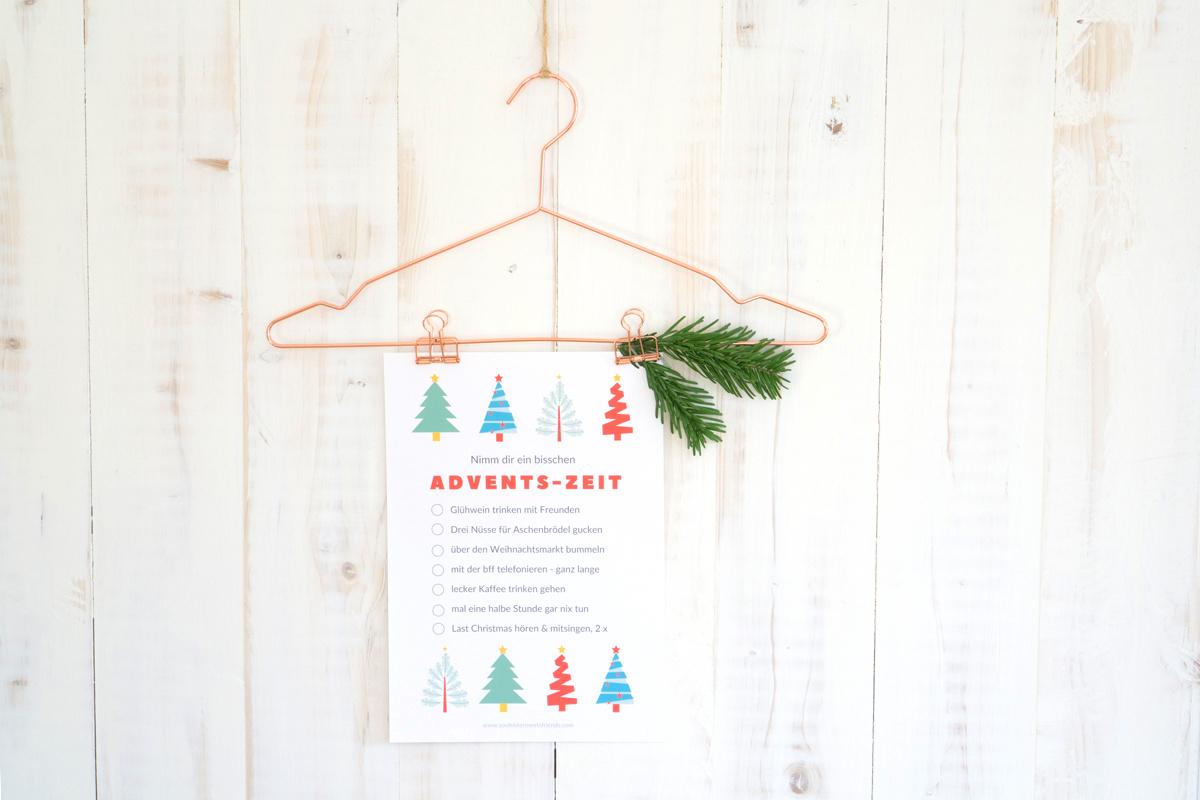 Kleine Geschenke: Nimm dir mehr Advents-Zeit – dein Freebie zum Download
