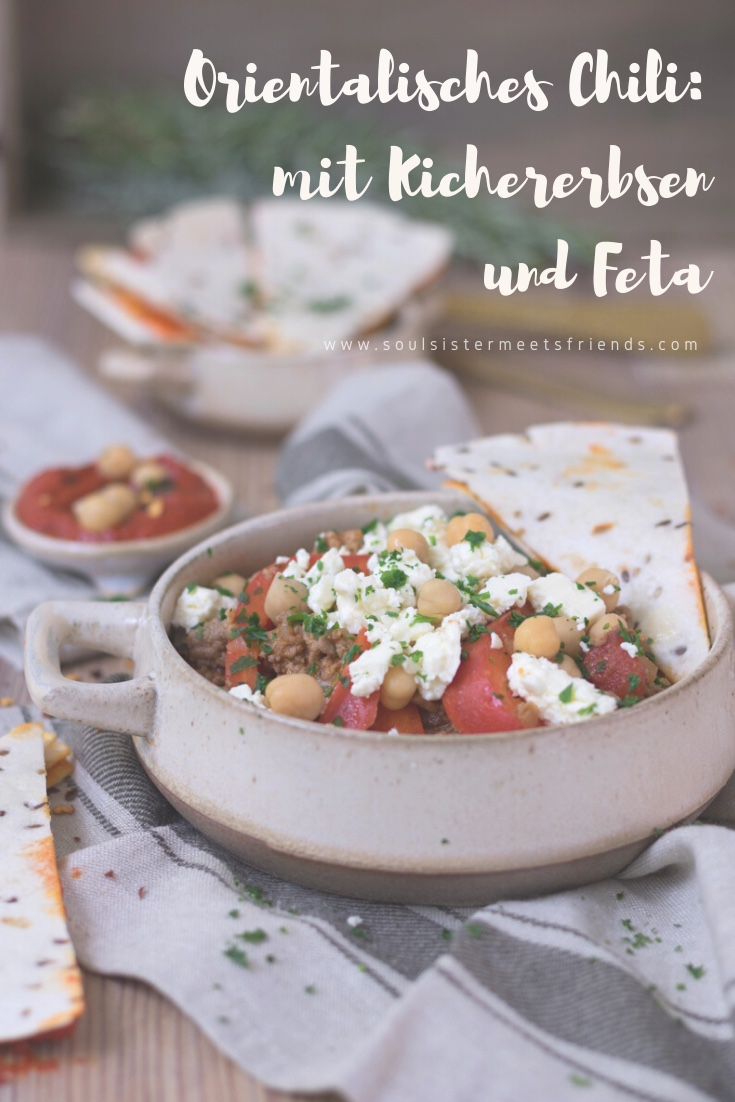 Winter hygge mit Bettina @diealltagsfeierin: Chili orientalisch - mit Kichererbsen und Feta