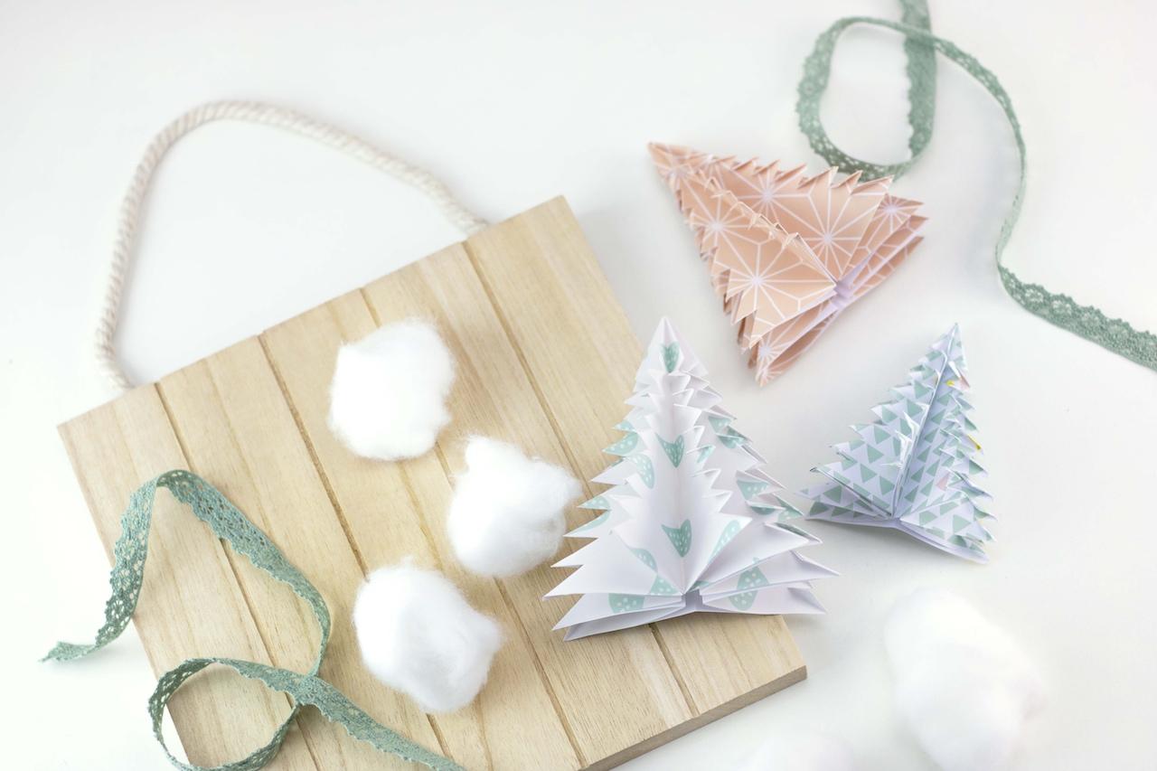 Winter Hygge: DIY Papercuts – Tannenbäume mit Freebie zum Download