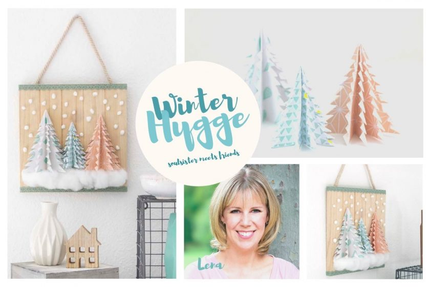 Winter Hygge: DIY Papercuts – Tannenbäume mit Freebie zum Download