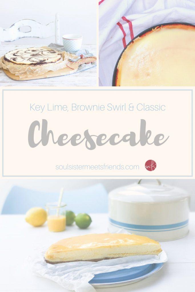 Cheesecake für alle! Key Lime, Brownie Swirl und ein klassischer New York Cheesecake