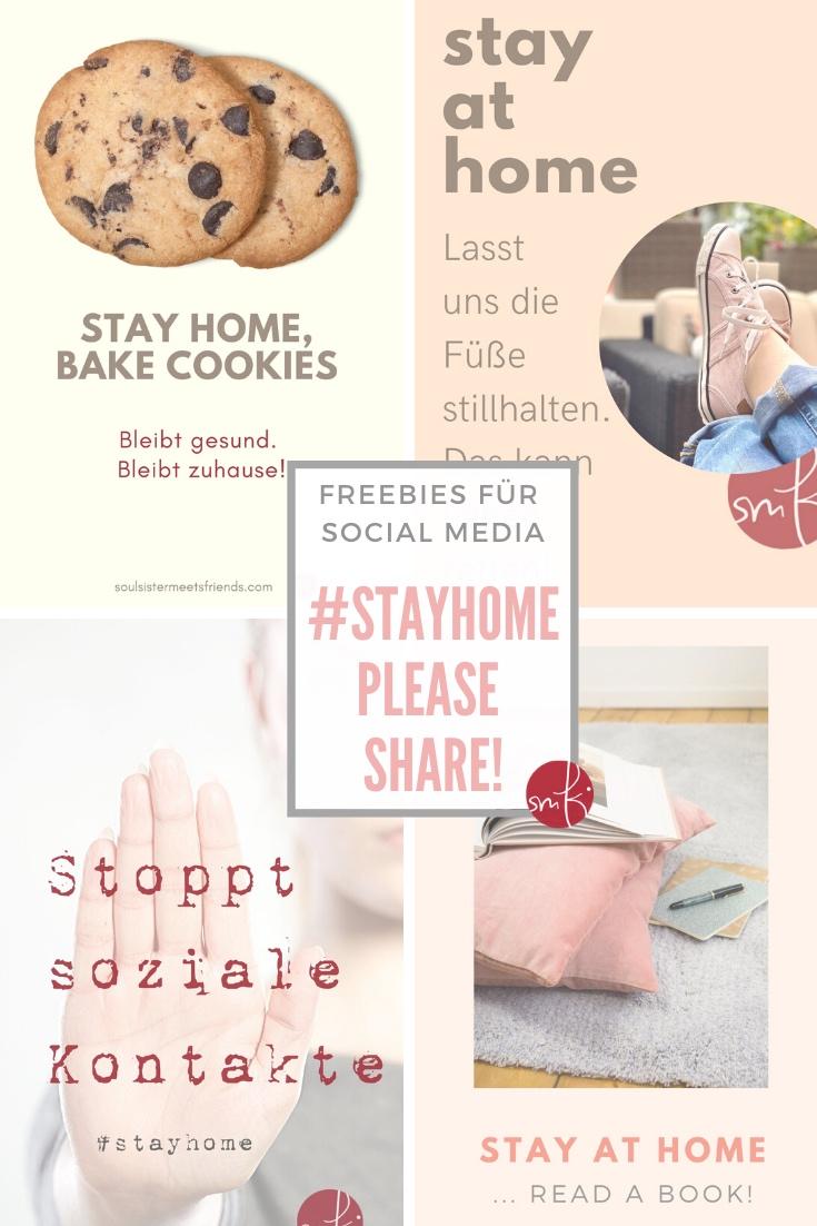 Aktion #stayhome in der Corona-Krise: 5 Freebies zum Download zum Teilen auf Social Media!