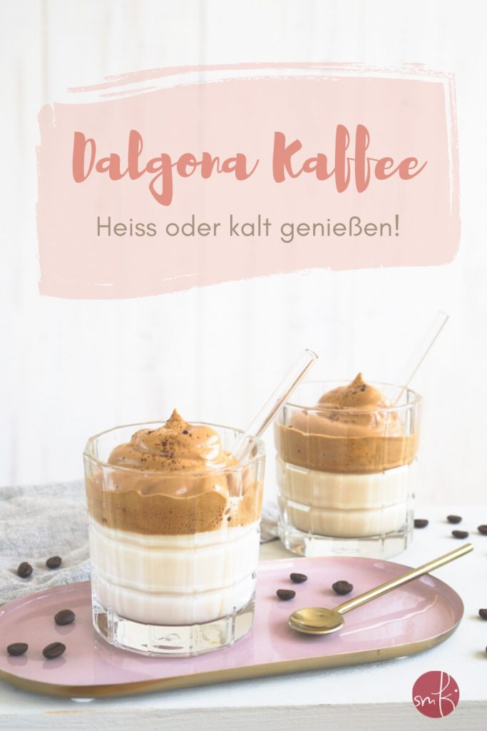 Dalgona Kaffee - das Rezept: löslicher Kaffee meets Milch. Heiß oder kalt genießen!