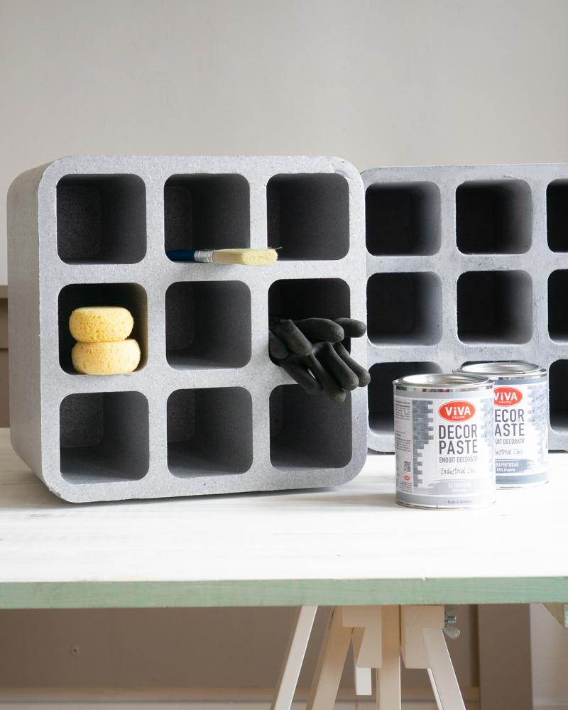 Getränke Box im Beton Look - selber machen
