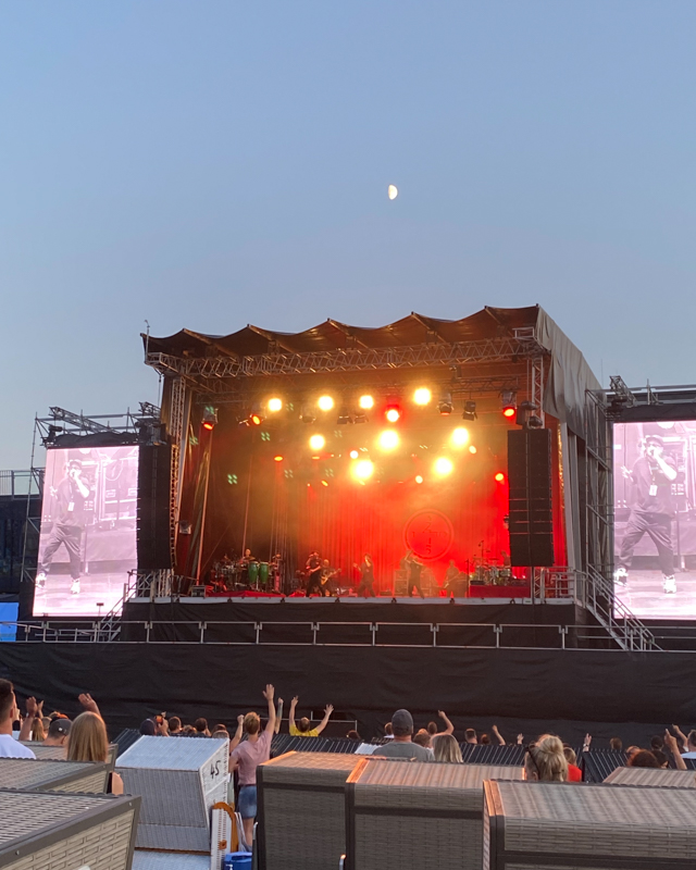 Open air fanta vier Strandkorb-Konzert