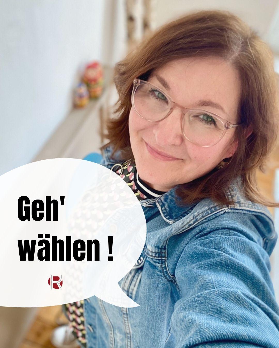 Bundestagswahl: Geh' wählen! Katrin Rembold, Journalistin